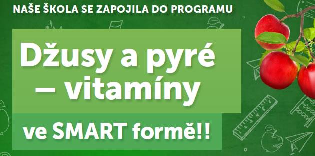 Naše škola se zapojila do programu Džusy a pyré - vitamíny ve SMART formě
